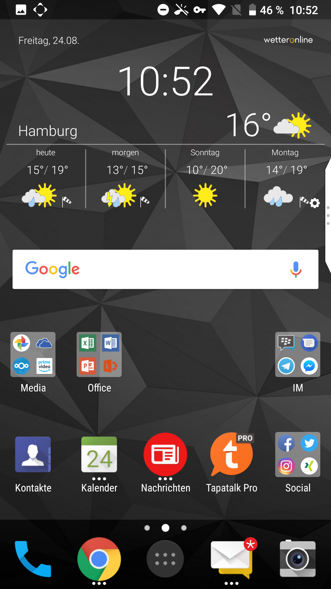 Änderungen durch Android Oreo auf BlackBerry Motion