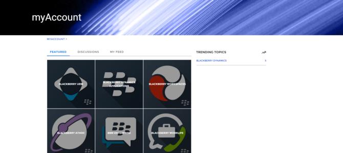 MyAccount: BlackBerry aktiviert die Community