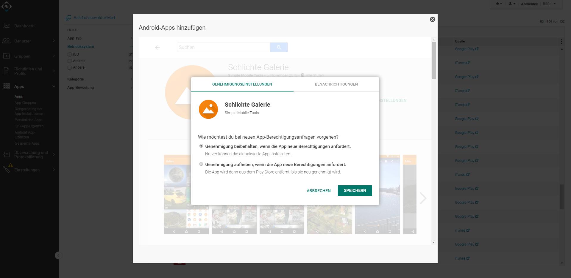 Android Apps: Apps können einfacher zum UEM hinzugefügt werden und Entwicklerkonto fällt bald weg