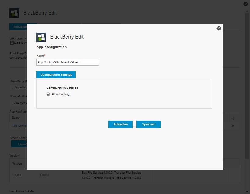 BlackBerry Edit ist verfügbar – Neue AppConfig