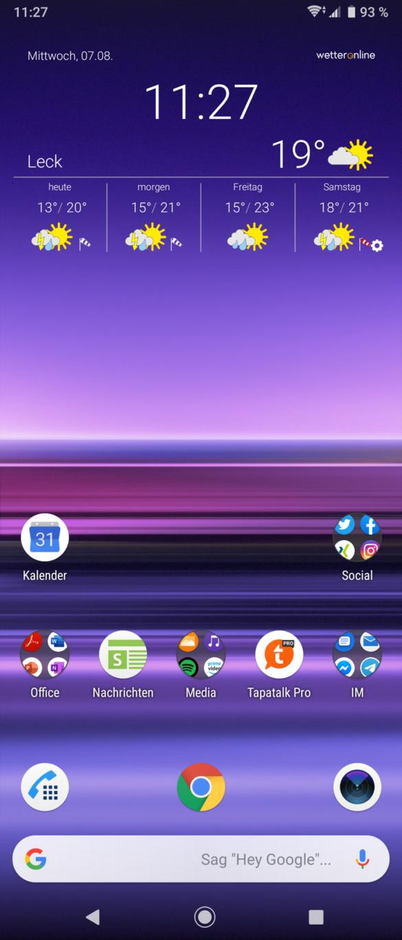 Sony Xperia 1 Test